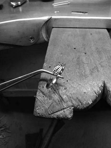 Fabrication de la bague Aiguille - 24ème étape