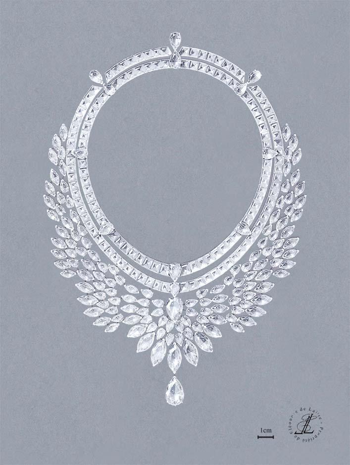 Eléonore de Laitre - Collier Rayonnant - diamants
