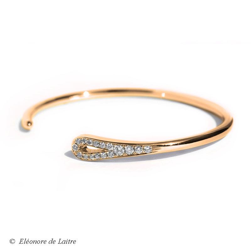 Bracelet Aiguille or rose 2