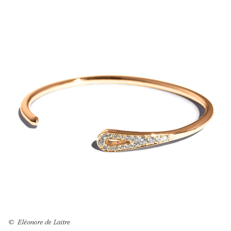 Eléonore de Laitre - Bracelet Aiguille or rose - Collection Couture