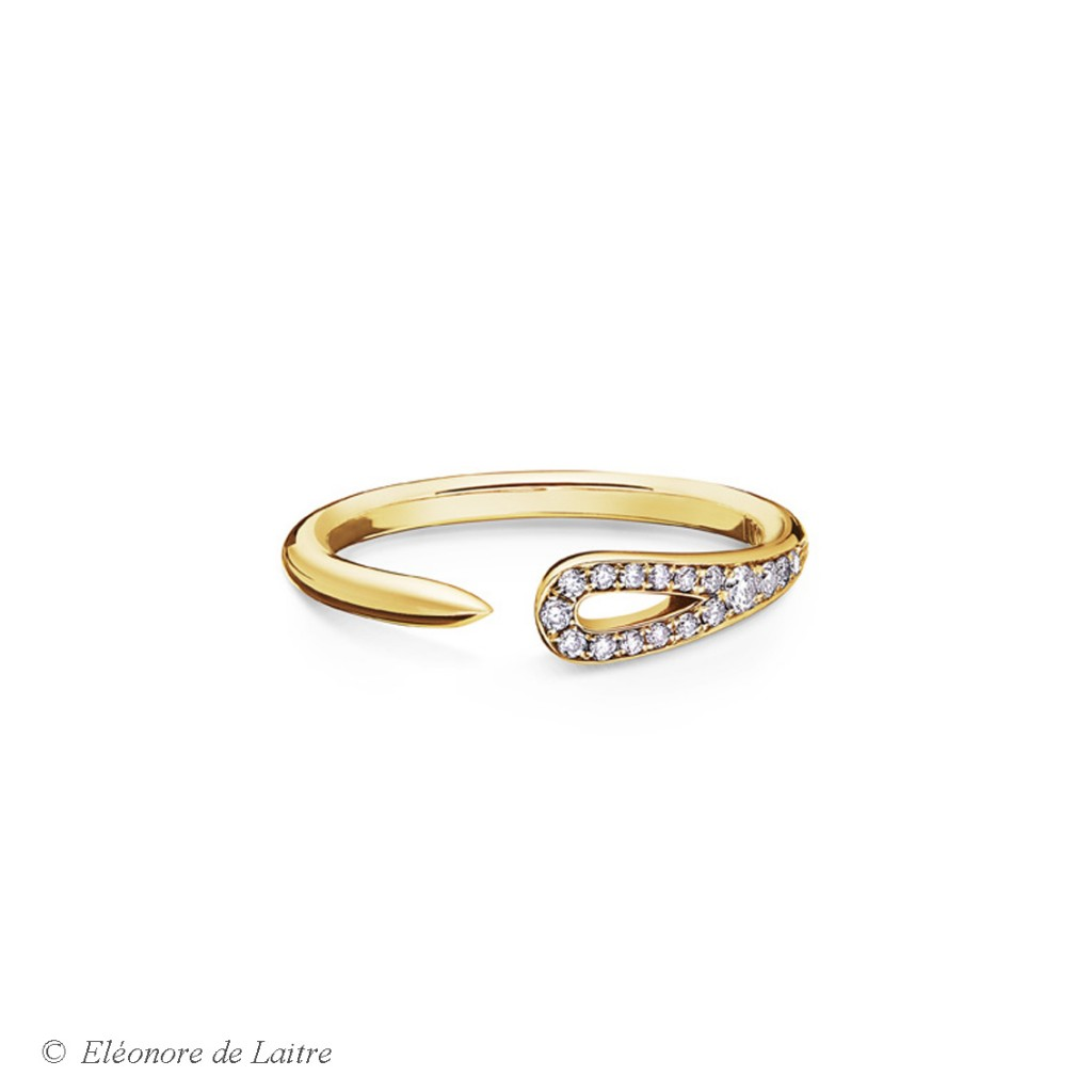Eléonore de Laitre - Bague Aiguille - diamants, or jaune - Collection Couture