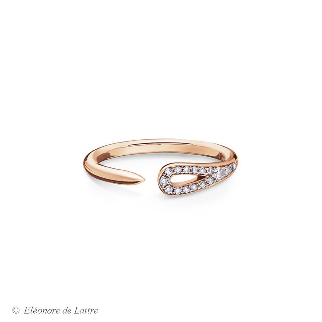 Eléonore de Laitre - Bague Aiguille - diamants, or rose - Collection Couture