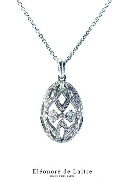 Eléonore de Laitre - Pendentif Oeuf diamants