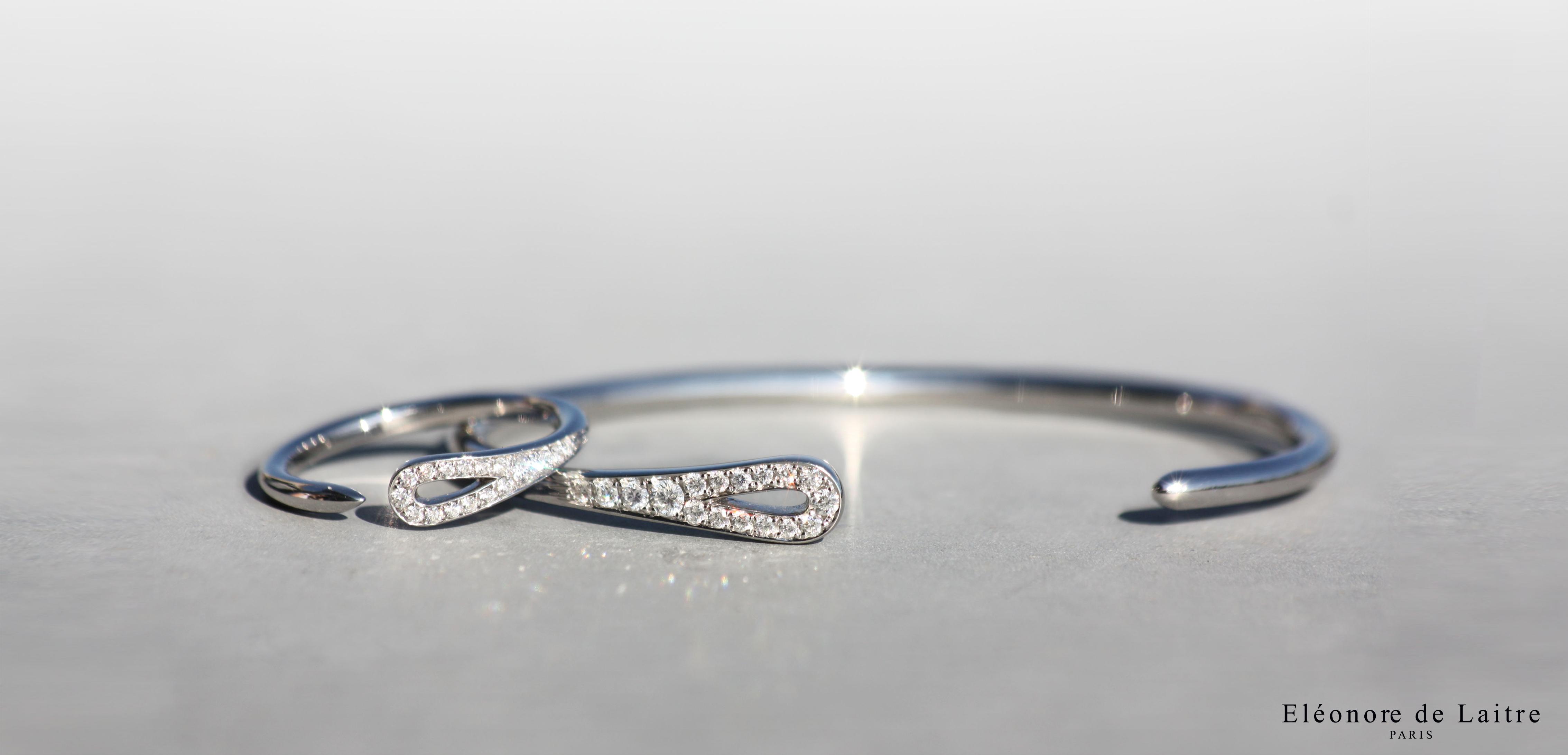 Eléonore de Laitre - Collection Couture - Bague et Bracelet Aiguille
