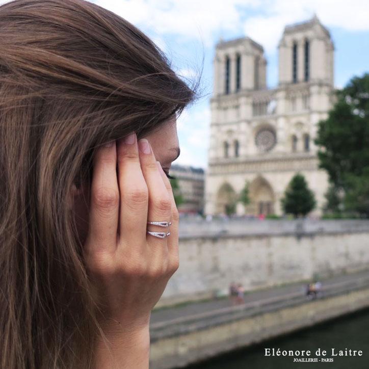 Eléonore de Laitre - Collection Couture - Bague Double Aiguille - Notre Dame Paris