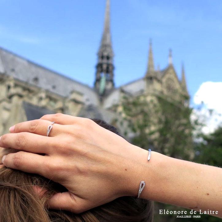 Eléonore de Laitre - Collection Couture - Bague et Bracelet Aiguille - Notre Dame Paris