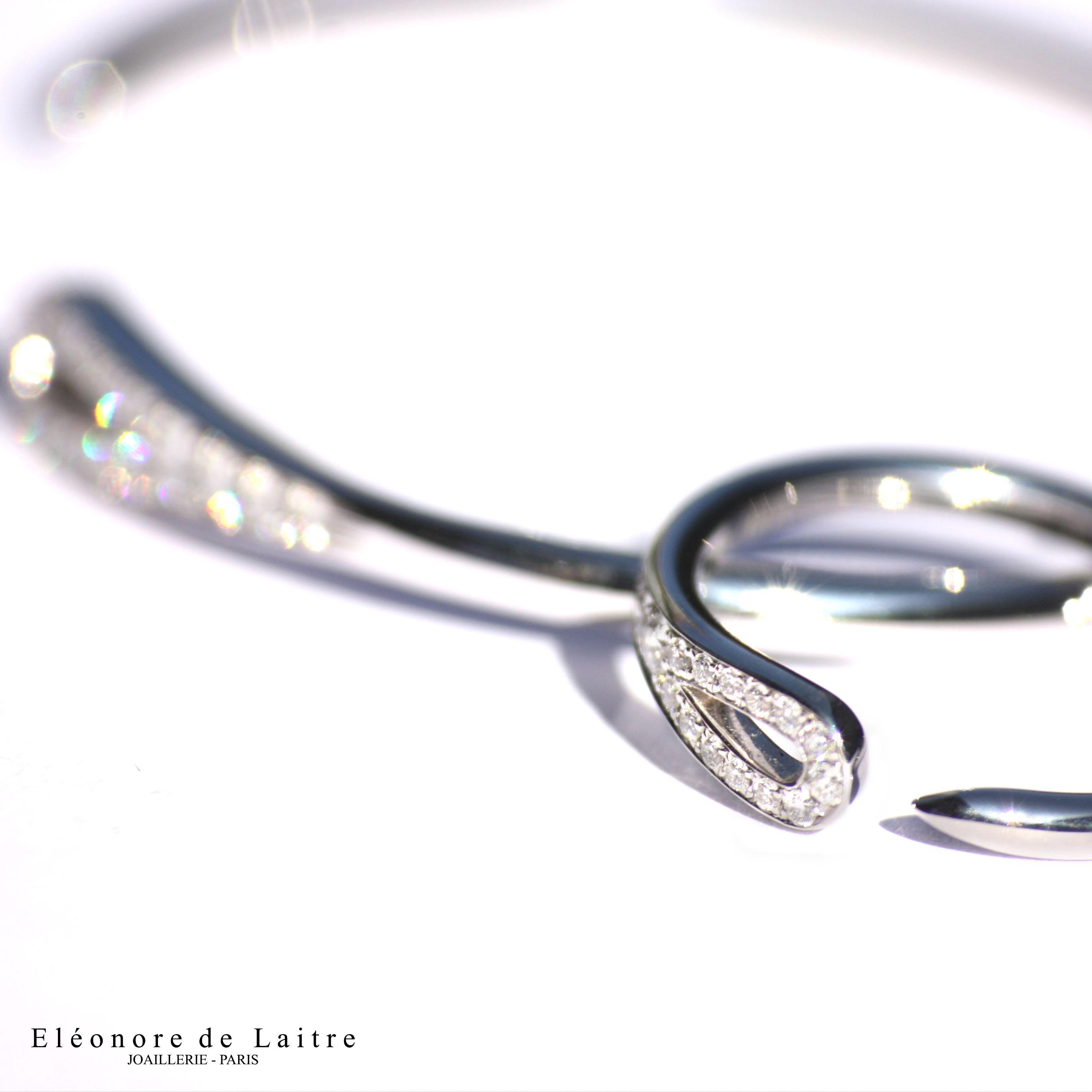Eléonore de Laitre - Bague et Bracelet Aiguille - zoom
