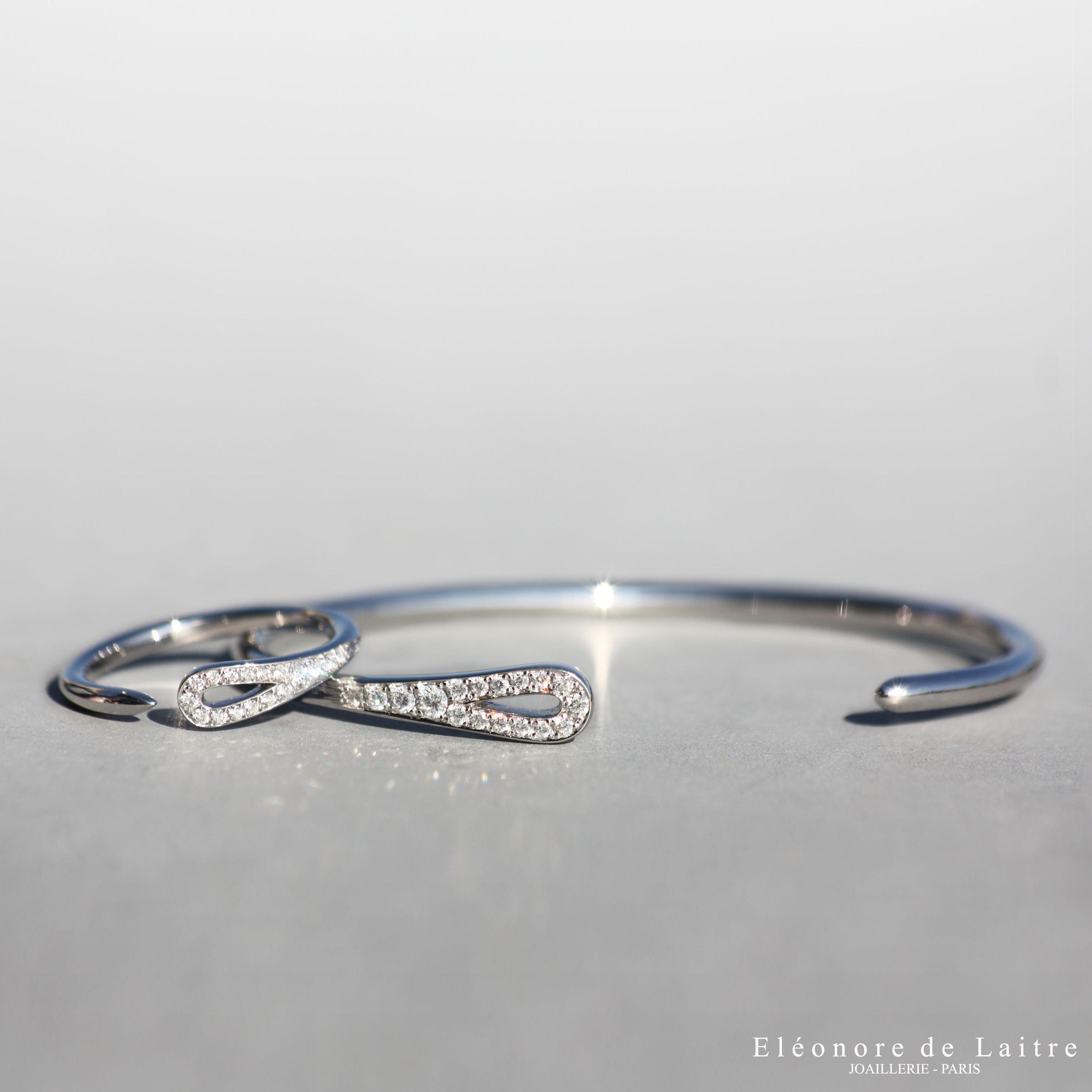 Eléonore de Laitre - Bague et Bracelet Aiguille