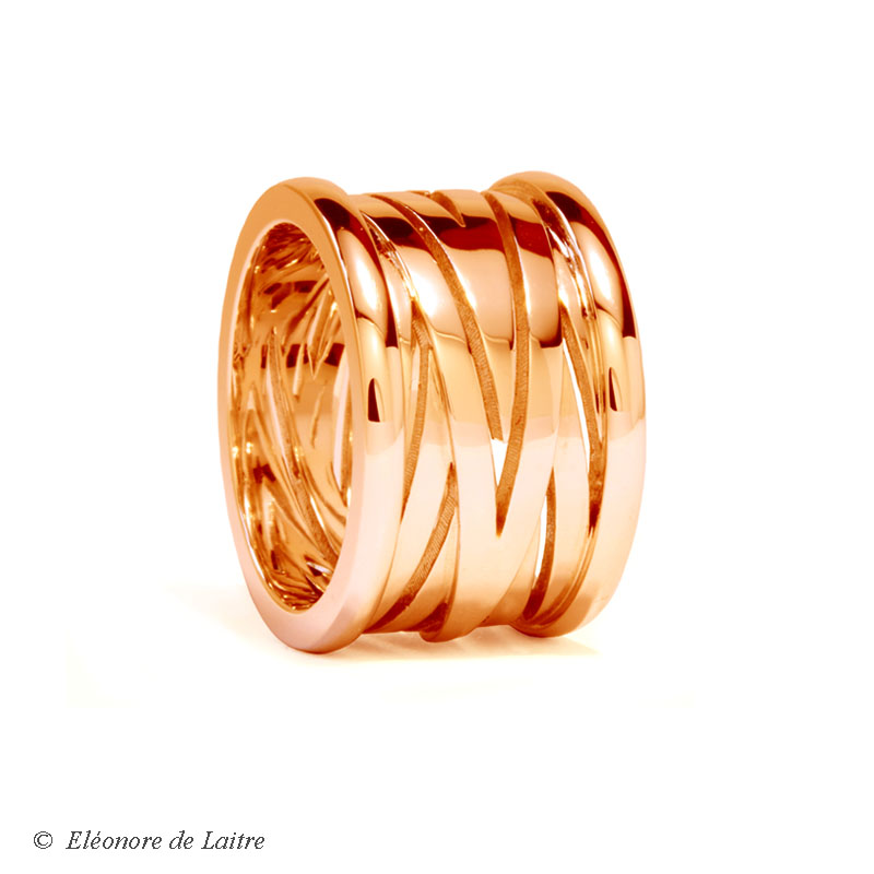 Collection Couture - Bague Bobine or rouge