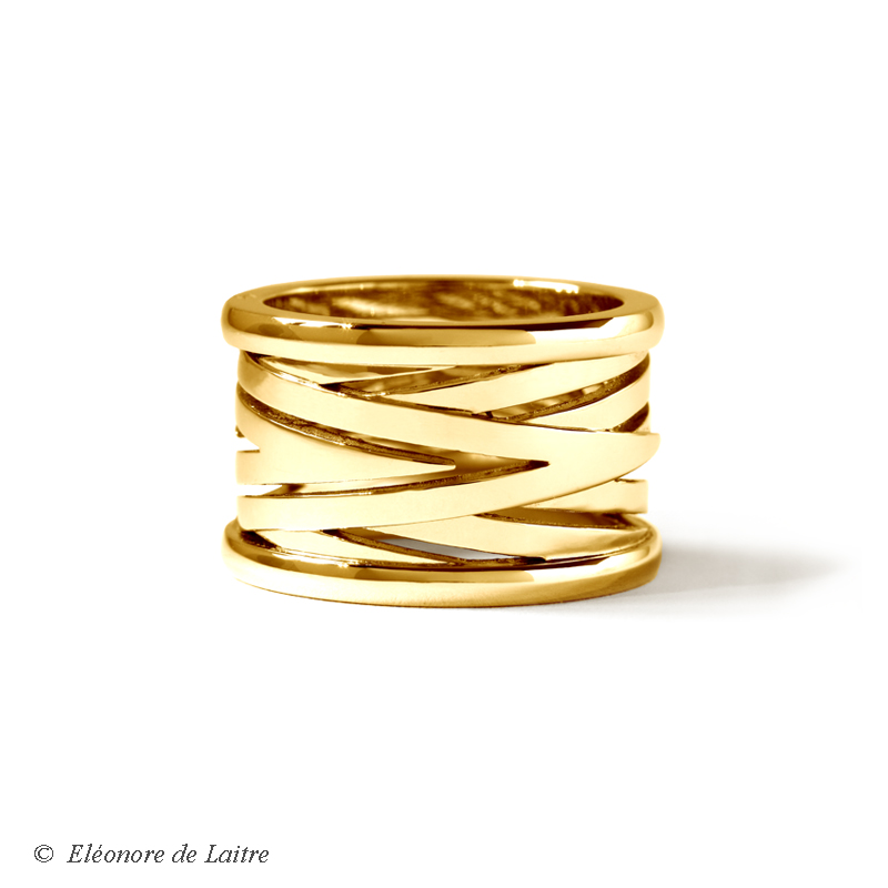 Collection Couture - Bague Bobine or jaune