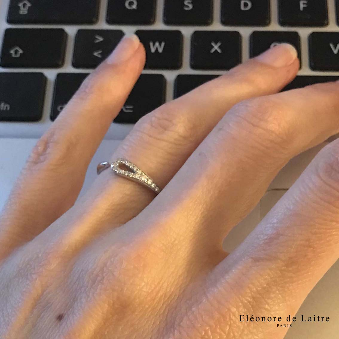 Collection Couture - Bague Aiguille - diamants, or gris