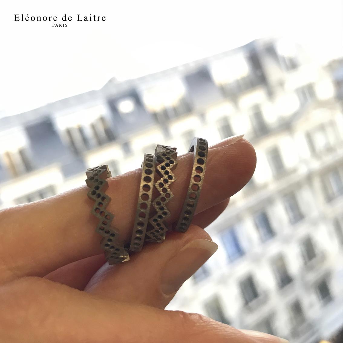 Collection Couture - Bagues Dentelles - sortie de fonte à l'atelier