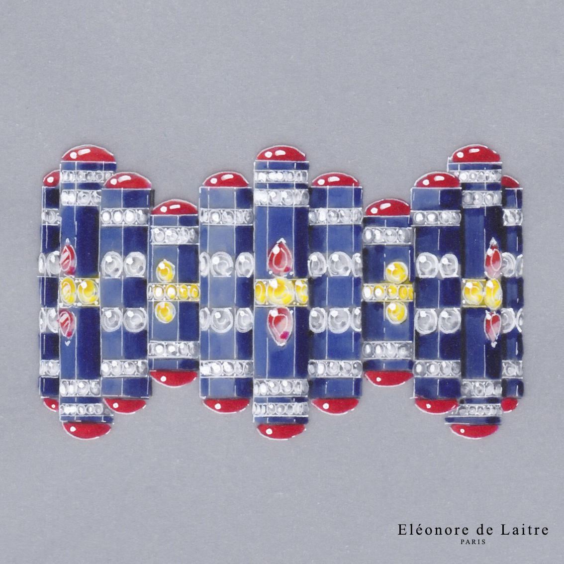 Bracelet haute joaillerie - Gouache