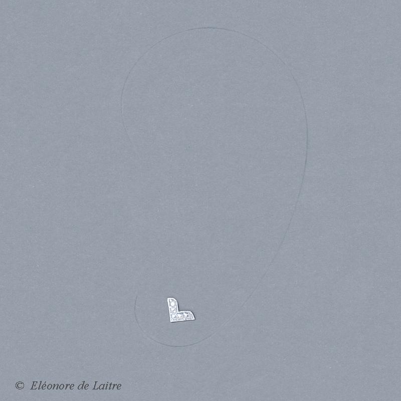 Collection Couture - Puce d'oreille Dentelle V - gouache