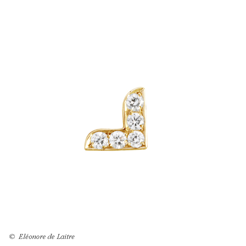Collection Couture - Puce d'oreille Dentelle V - OJ