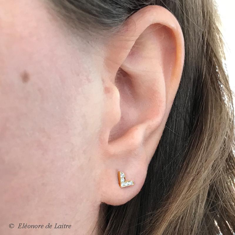 Collection Couture - Puce d'oreille Dentelle V - OJ - porté