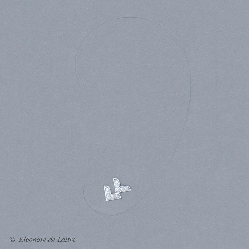 Collection Couture - Puce d'oreille Dentelle VV - gouache